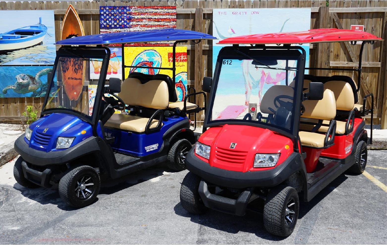 Rentals Electric Cart Company Santa Rosa Beach Florida